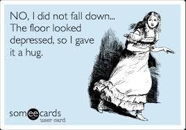 didn't fall down