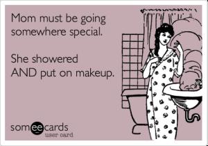 mom shower makeup