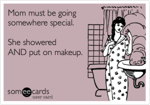mom shower makeup