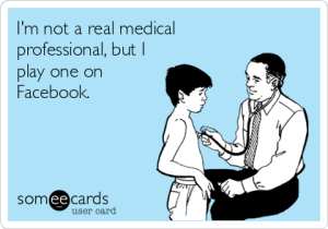 not a real medical professional