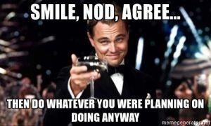 smile nod agree