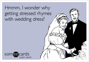 wedding dress stress