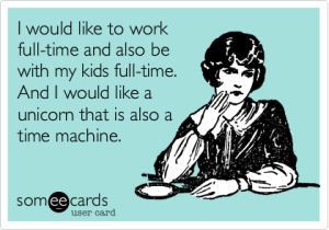 work full time mom